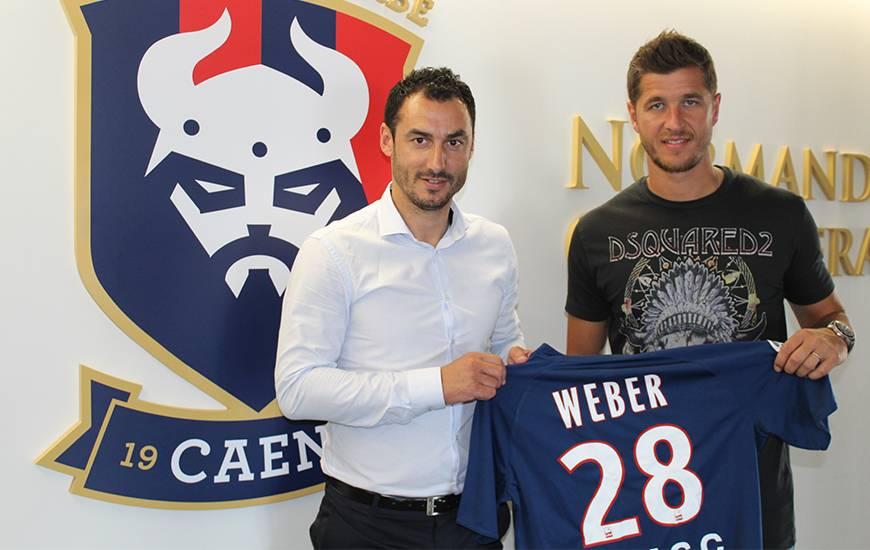 Anthony Weber est la sixième recrue de ce mercato estival du côté du Stade Malherbe Caen
