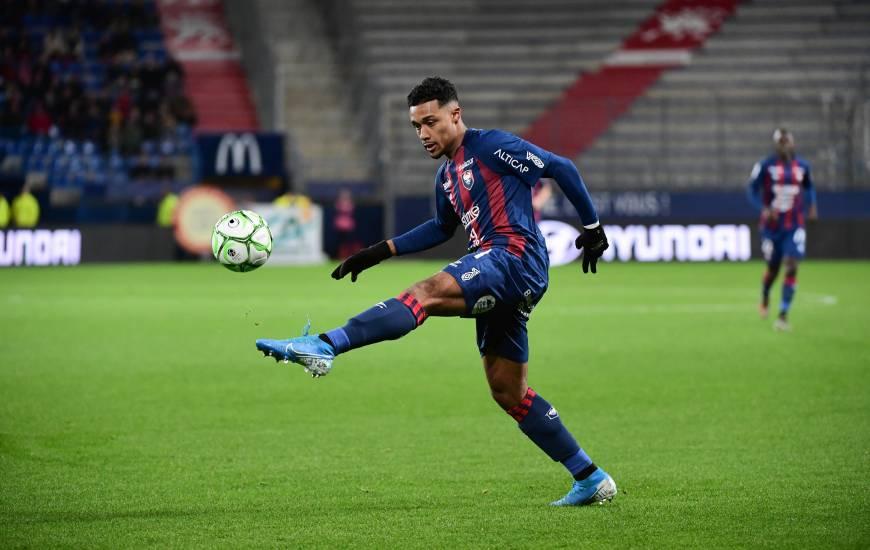 Yoël Armougom et les Caennais débuteront la phase retour lundi soir sur la pelouse du FC Lorient