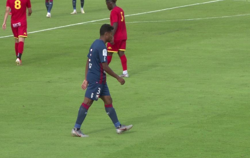 Formé au SM Caen, Yoël Armougom s'est illustré avec ce beau geste technique réalisé en fin de match
