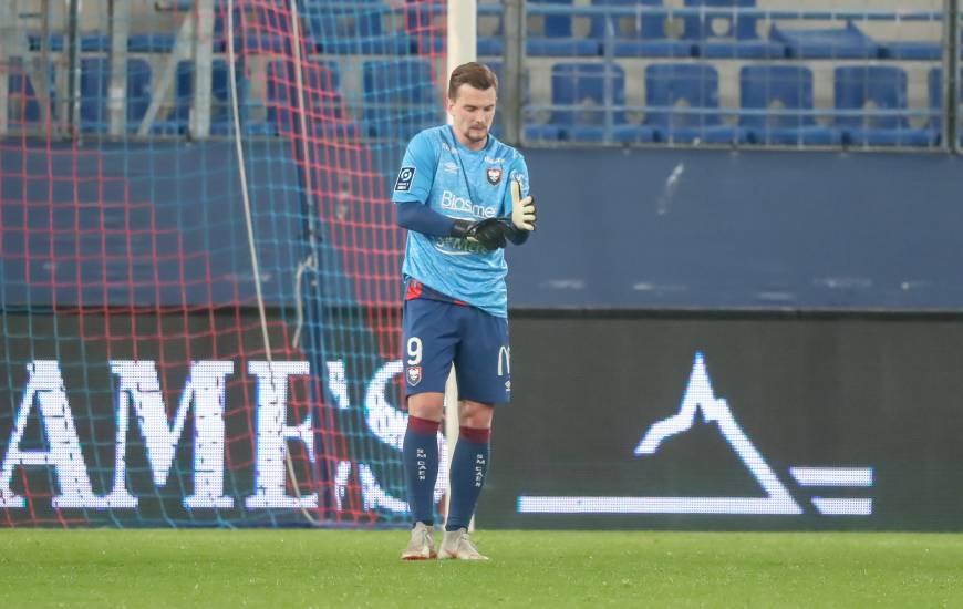 Benjamin Jeannot a enfilé les gants de gardien de but après l'expulsion de Rémy Riou en fin de rencontre