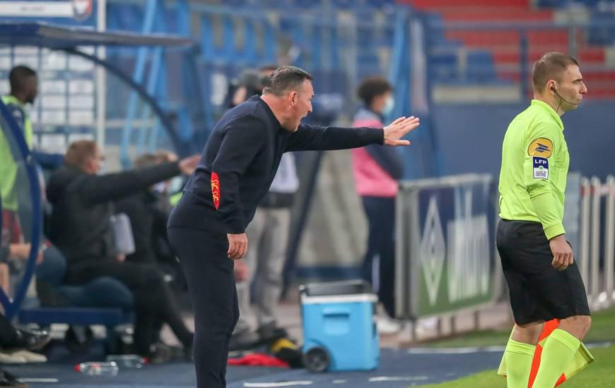 Fabrice Vandeputte s'est montré déçu du résultat obtenu face à l'USL Dunkerque hier soir à d'Ornano