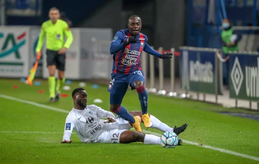 Caleb Zady Sery et les Caennais ont réussi à revenir au score face aux Grenoblois en seconde période