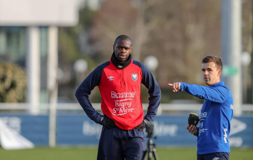 Prince Oniangué a pu reprendre l'entraînement collectif cette semaine après sa blessure face à Amiens