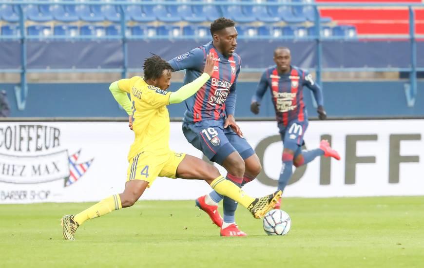 Alexandre Mendy a inscrit son cinquième but de la saison samedi soir face au Pau FC à d'Ornano