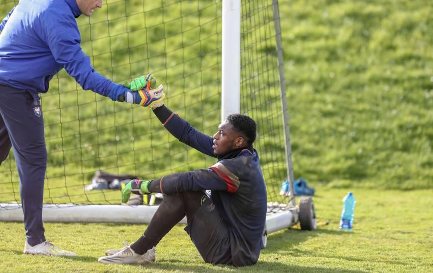 Éloigné des terrains depuis son malaise face au FC Chambly, Garissone Innocent vient de reprendre l'entraînement collectif avec le Stade Malherbe