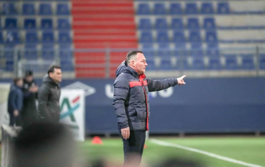Fabrice Vandeputte a dirigé sa première rencontre de Ligue 2 BKT avec le Stade Malherbe hier soir