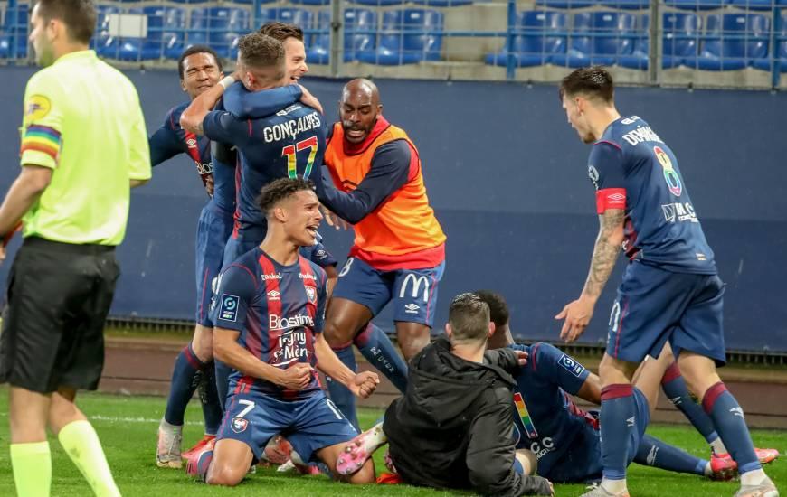 Benjamin Jeannot a offert le maintien au Stade Malherbe Caen au bout du temps additionnel face au Clermont Foot