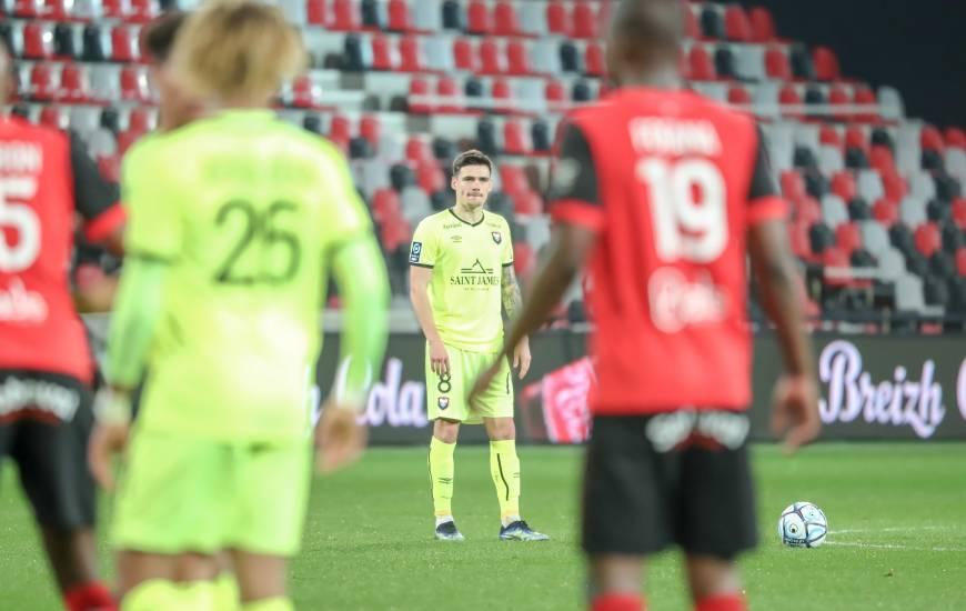 Jessy Deminguet a délivré deux passes décisives hiers soir face à l'En Avant Guingamp