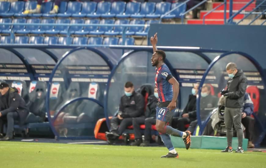 Alexandre Mendy a inscrit son premier but sous les couleurs du Stade Malherbe Caen hier soir face au Toulouse FC
