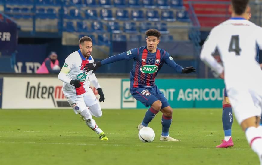 Nicholas Gioacchini et les Caennais n'ont pas eu à rougir de leur prestation face au Paris-Saint-Germain hier soir