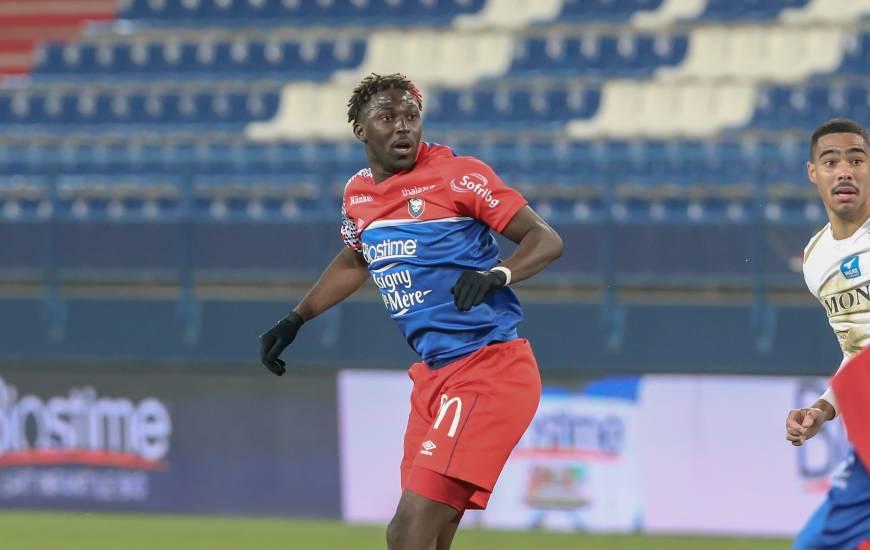 Prêté cette saison par Manchester United, Aliou Traoré a fait ses débuts en professionnels avec le Stade Malherbe Caen
