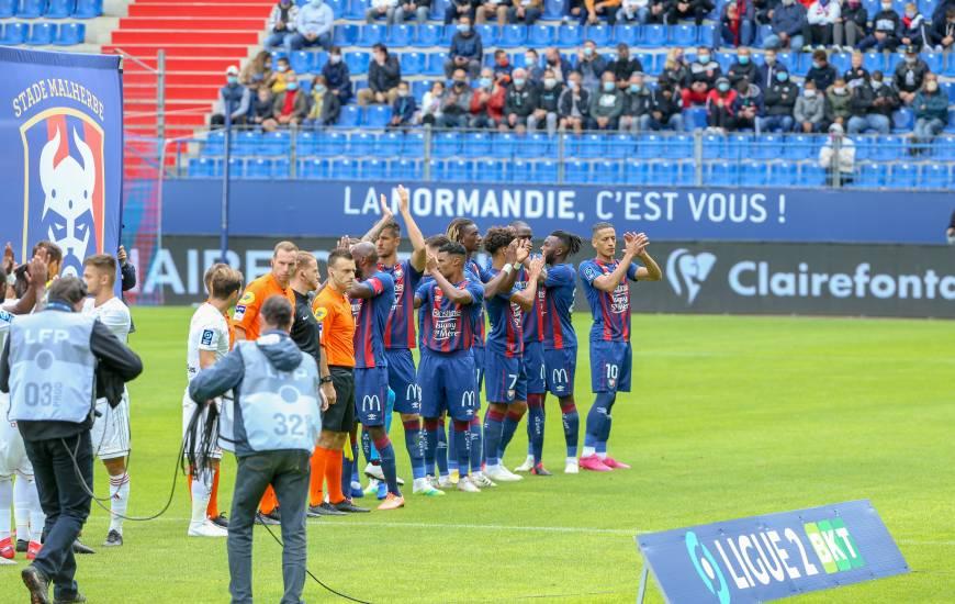 Les joueurs du Stade Malherbe Caen recevront à deux reprises au mois de novembre, l'AS Nancy et Châteauroux