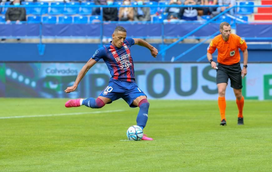 Avec cinq buts inscrits depuis le début de saison, Yacine Bammou est le meilleur buteur du Stade Malherbe Caen