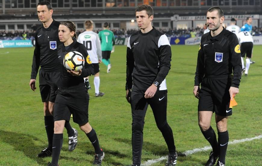 Stéphanie Frappart avait arbitré le Stade Malherbe Caen lors du 32e de Coupe de France en janvier 2018