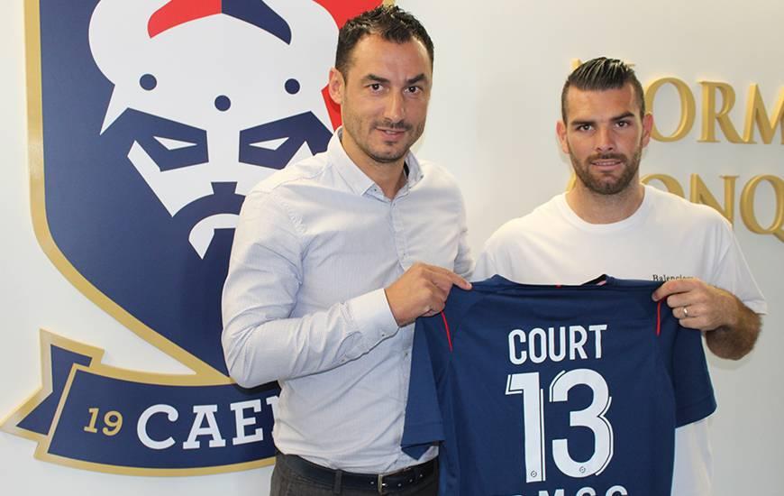 En fin de contrat avec le Stade Brestois, Yoann Court s'est engagé pour deux saisons avec le Stade Malherbe Caen