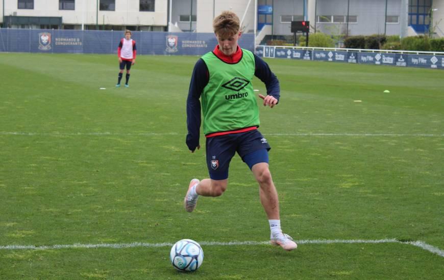 Absent depuis quinze jours, Johann Lepenant était de retour à l'entraînement avec le groupe ce mardi matin
