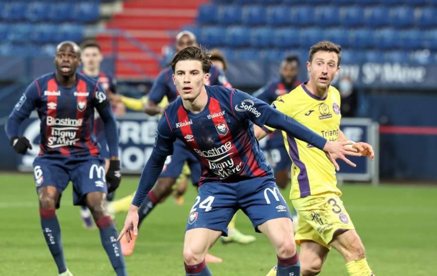 Hugo Vandermersch et les Caennais n'ont pas réussi à conserver leur avantage face au TFC ce lundi soir