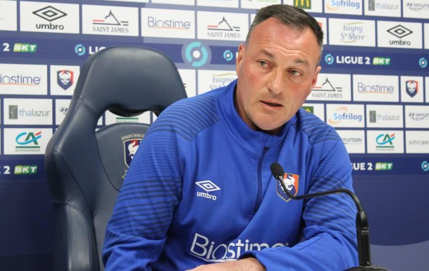 Fabrice Vandeputte a évoqué la rencontre de demain soir face à l'AJ Auxerre devant la presse locale
