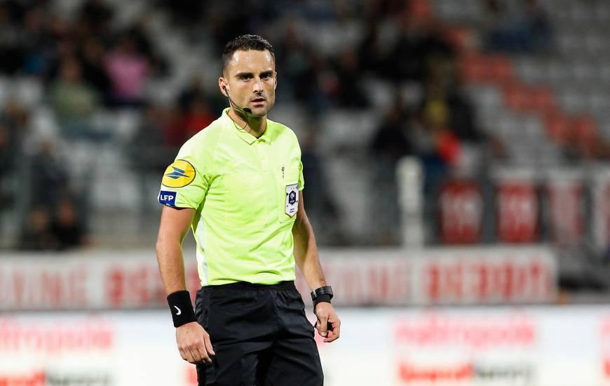 Romain Lissorgue dirigera samedi le Stade Malherbe Caen pour la troisème fois au cours de sa jeune carrière d'arbitre