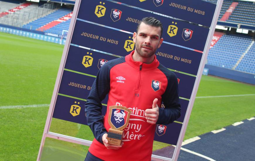 Yoann Court a été désigné joueur du mois d'octobre Künkel par les supporters du Stade Malherbe Caen