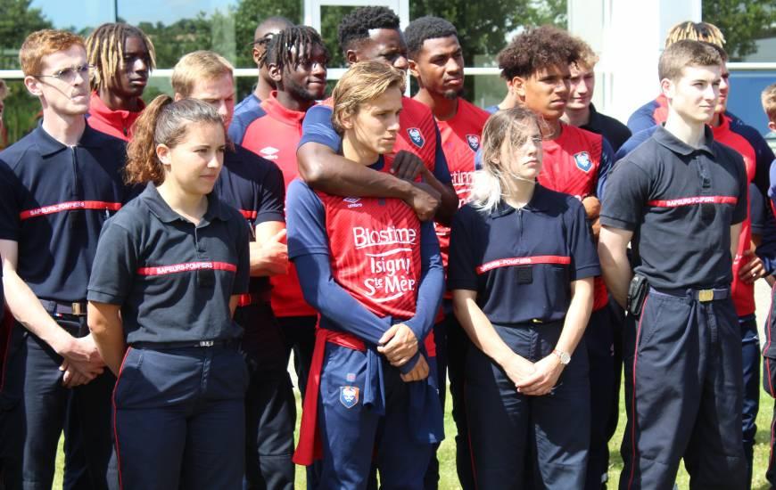 Les joueurs du Stade Malherbe Caen ont effectué leur troisième journée de cohésion à l'école du feu ce lundi