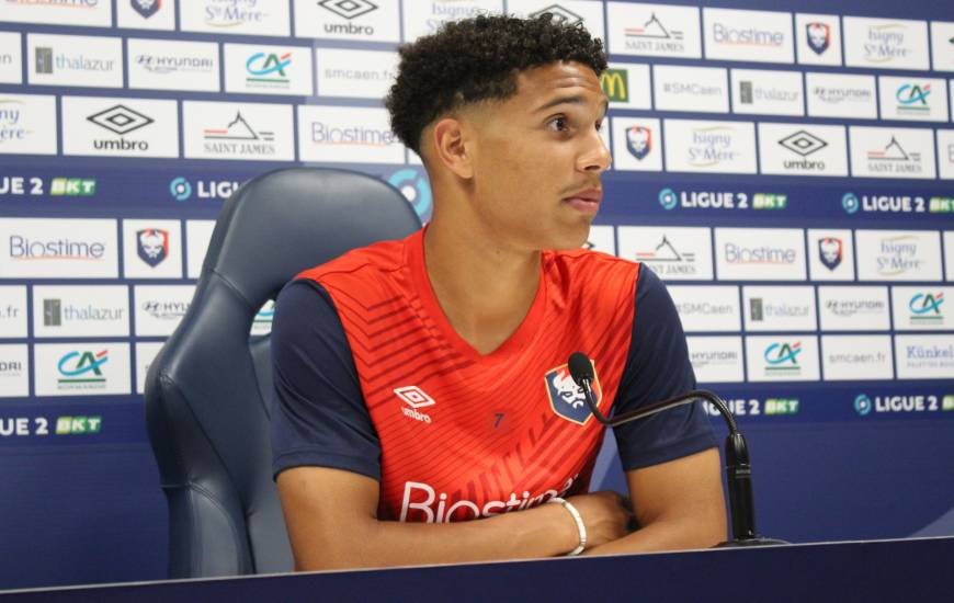 Nicholas Gioacchini a répondu aux questions de la presse avant la réception du FC Chambly