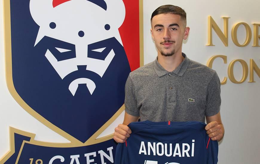 Arrivé à l'âge de dix ans au Stade Malherbe Caen, Naël Anouari est désormais lié avec le club jusqu'en 2023
