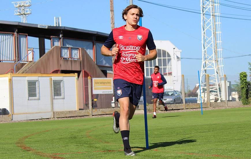À l'image de Loup Hervieu, les joueurs du SM Caen ont tout donné lors du test physique de ce mercredi matin