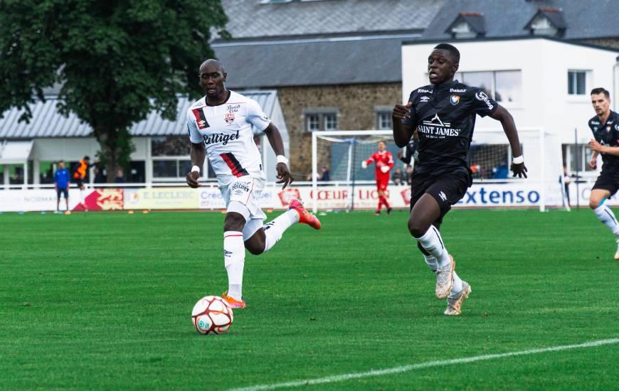 Zeidane Inoussa a participé aux trente dernières minutes de la rencontre face à l'EA Guingamp hier soir