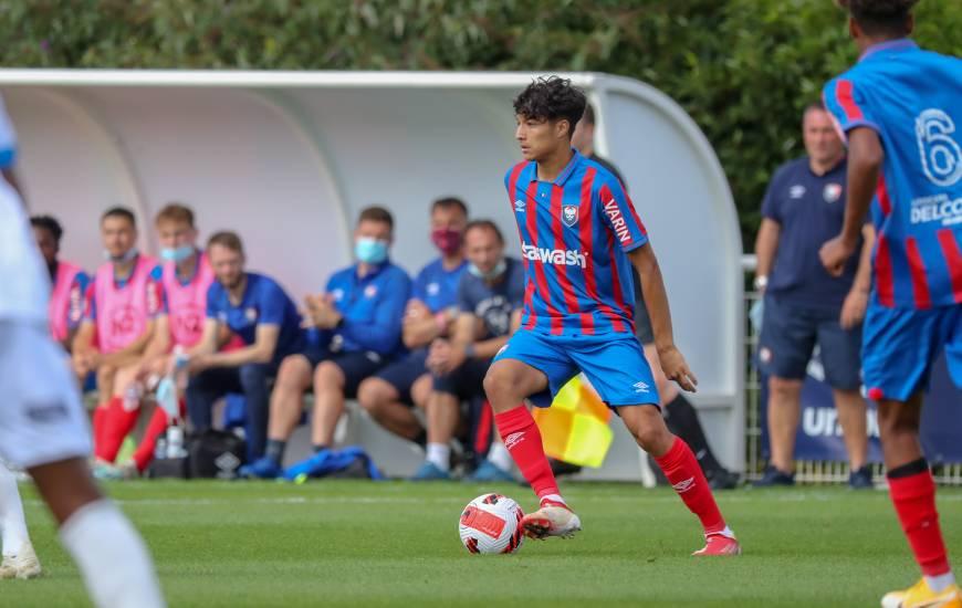 Nassim Tlemcani a inscrit un triplé avec les U19 Nationaux face au FC Chambly