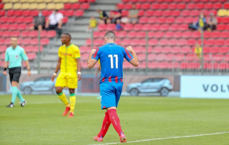 Yoann Court a inscrit le seul but face au FC Nantes ce samedi après-midi lors du Challenge Emiliano Sala