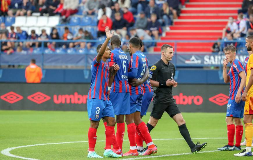 Guillaume Paradis avait arbitré le Stade Malherbe Caen à l'occasion du premier match de la saison