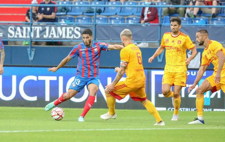 """Steve Shamal a inscrit son premier but avec le Stade Malherbe Caen lors de sa première apparition avec les """"rouge et bleu"""""""