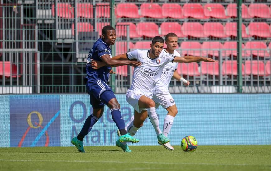 Steve Shamal et les Caennais ont cédé en fin de rencontre face aux Girondins de Bordeaux ce dimanche après-midi
