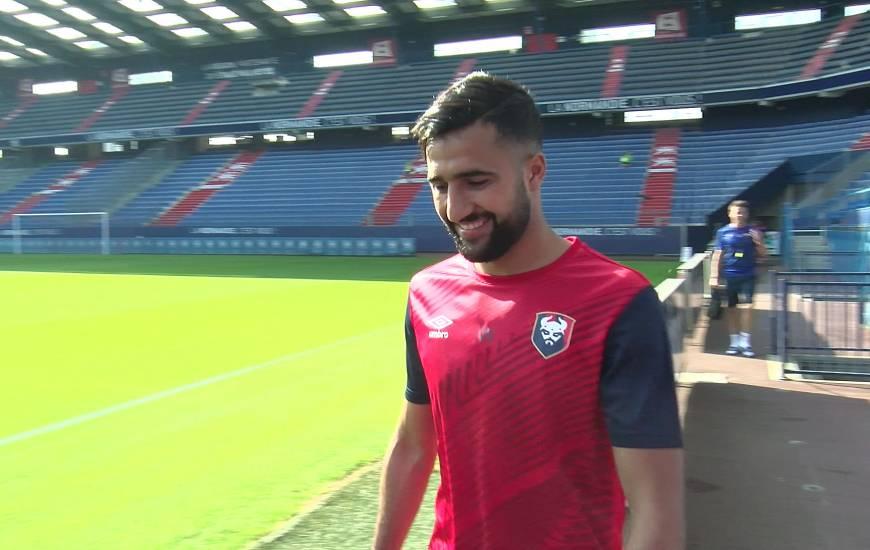Ali Abdi a participé à sa première séance avec le groupe professionnel du Stade Malherbe Caen ce matin