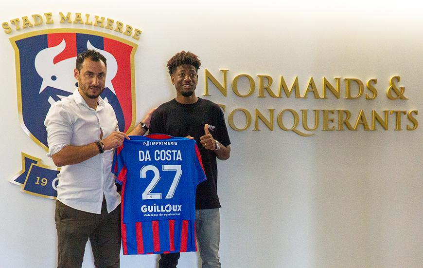 Nuno Da Costa prêté jusqu'à la fin de saison portera le numéro 27 avec le Stade Malherbe Caen