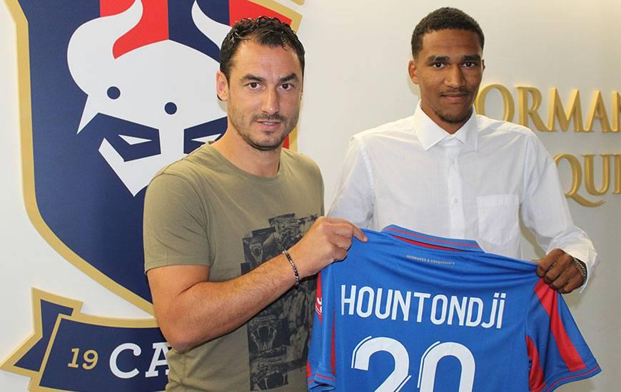 Andras Hountondji s'est montré à son avantage lors de la préparation estivale avec le Stade Malherbe Caen