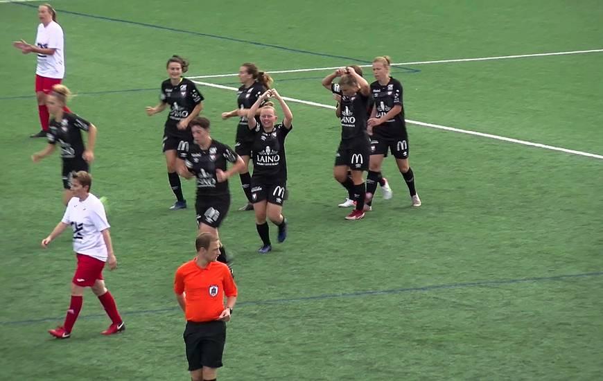 La joie des Caennaises après le premier but marqué cette saison