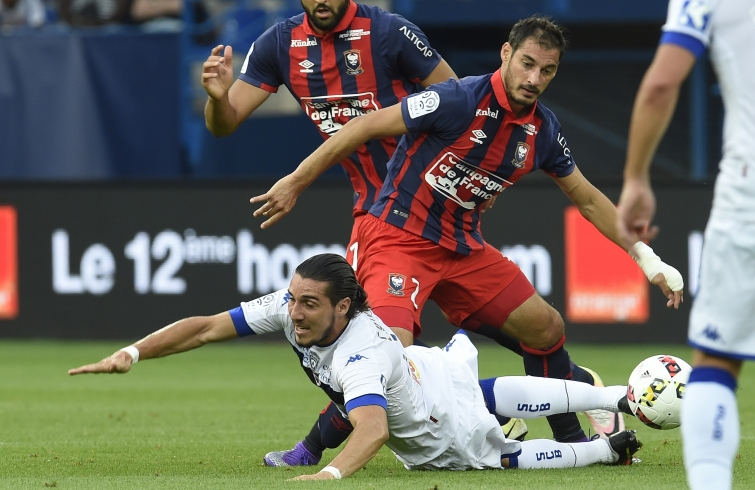 [22e journée de L1] SC Bastia 1-1 SM Caen  Seube_crivelli_1