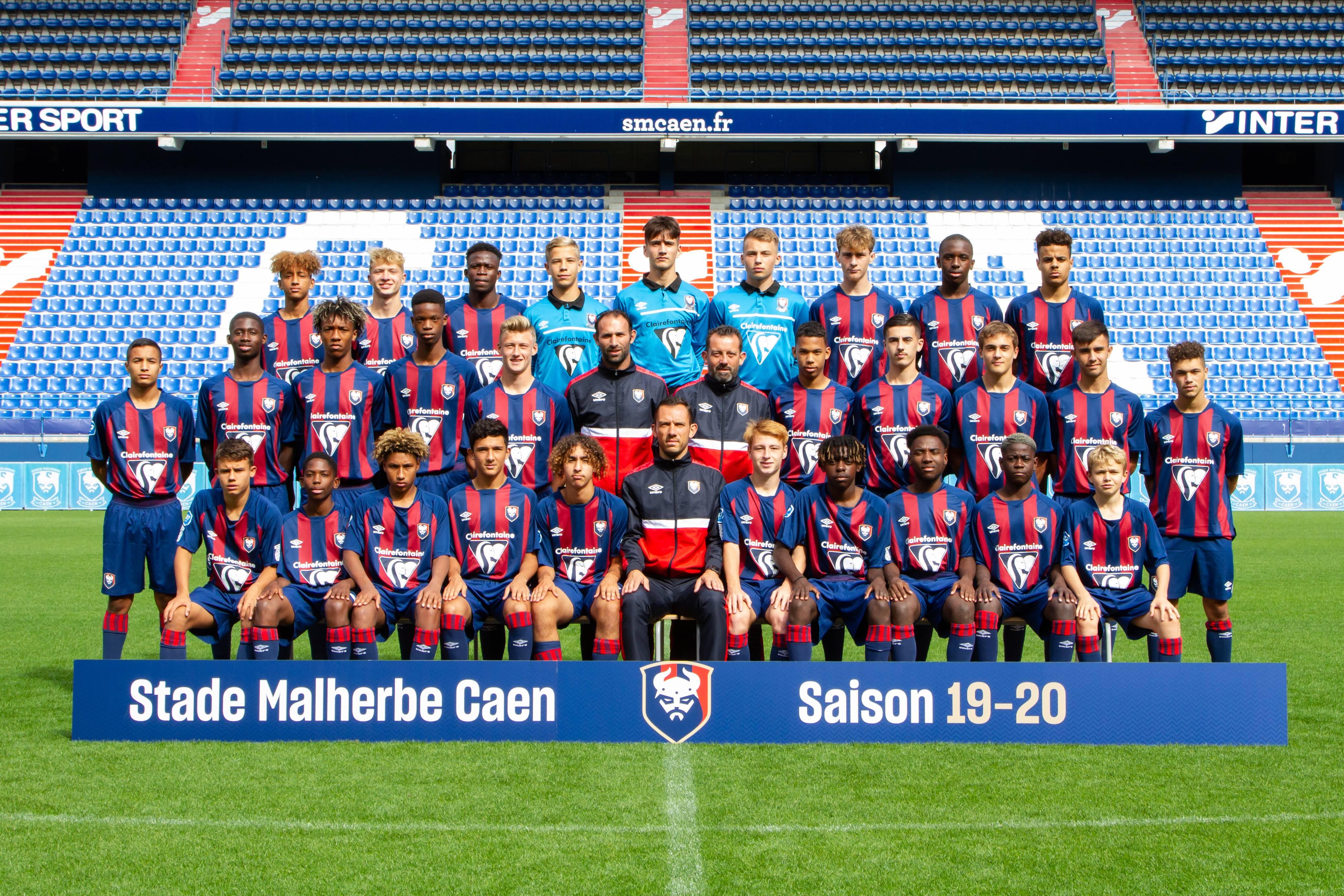 Stade Malherbe Caen Calvados Basse-Normandie - équipe U17 2019-2020