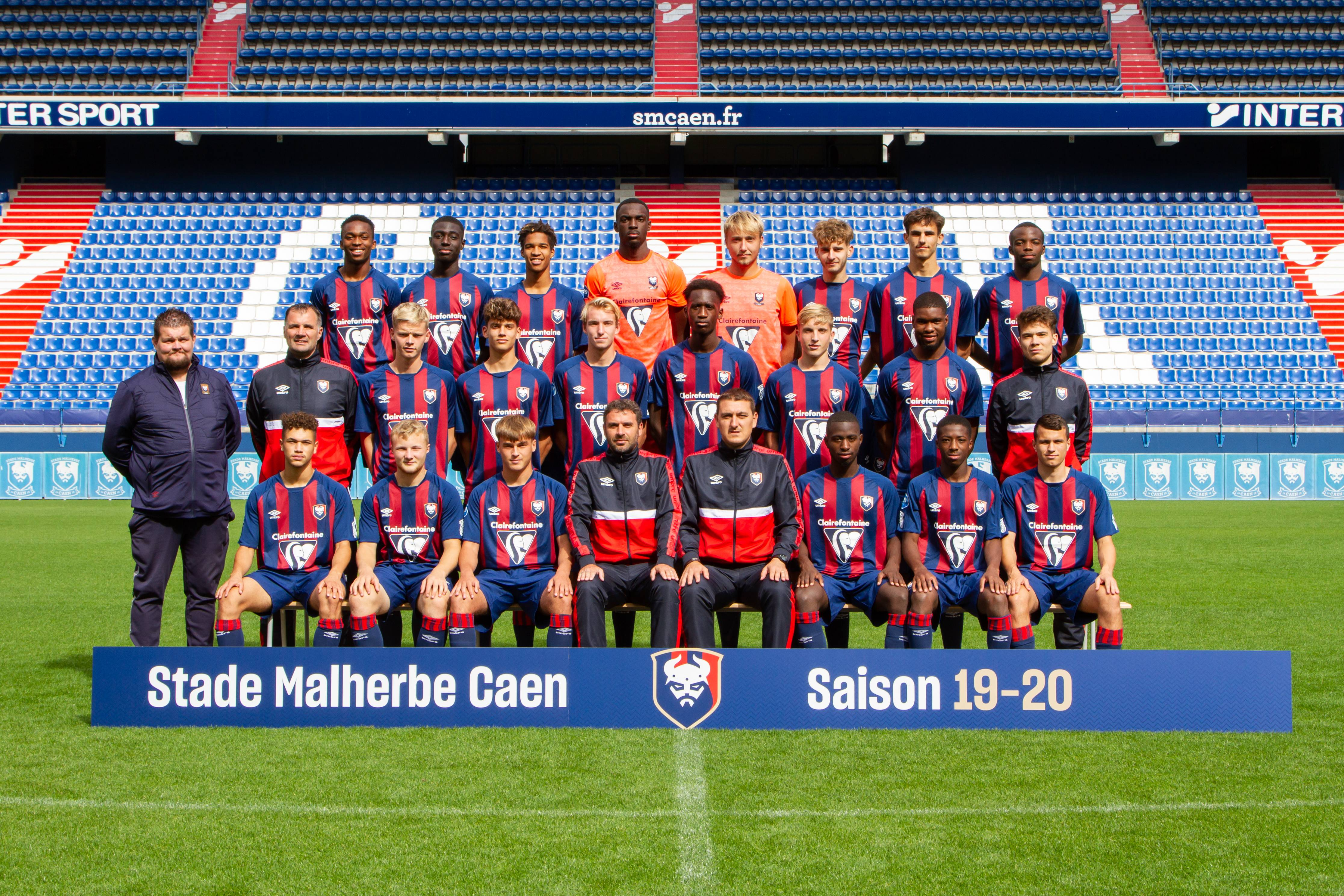Stade Malherbe Caen Calvados Basse-Normandie - équipe U19 2019-2020