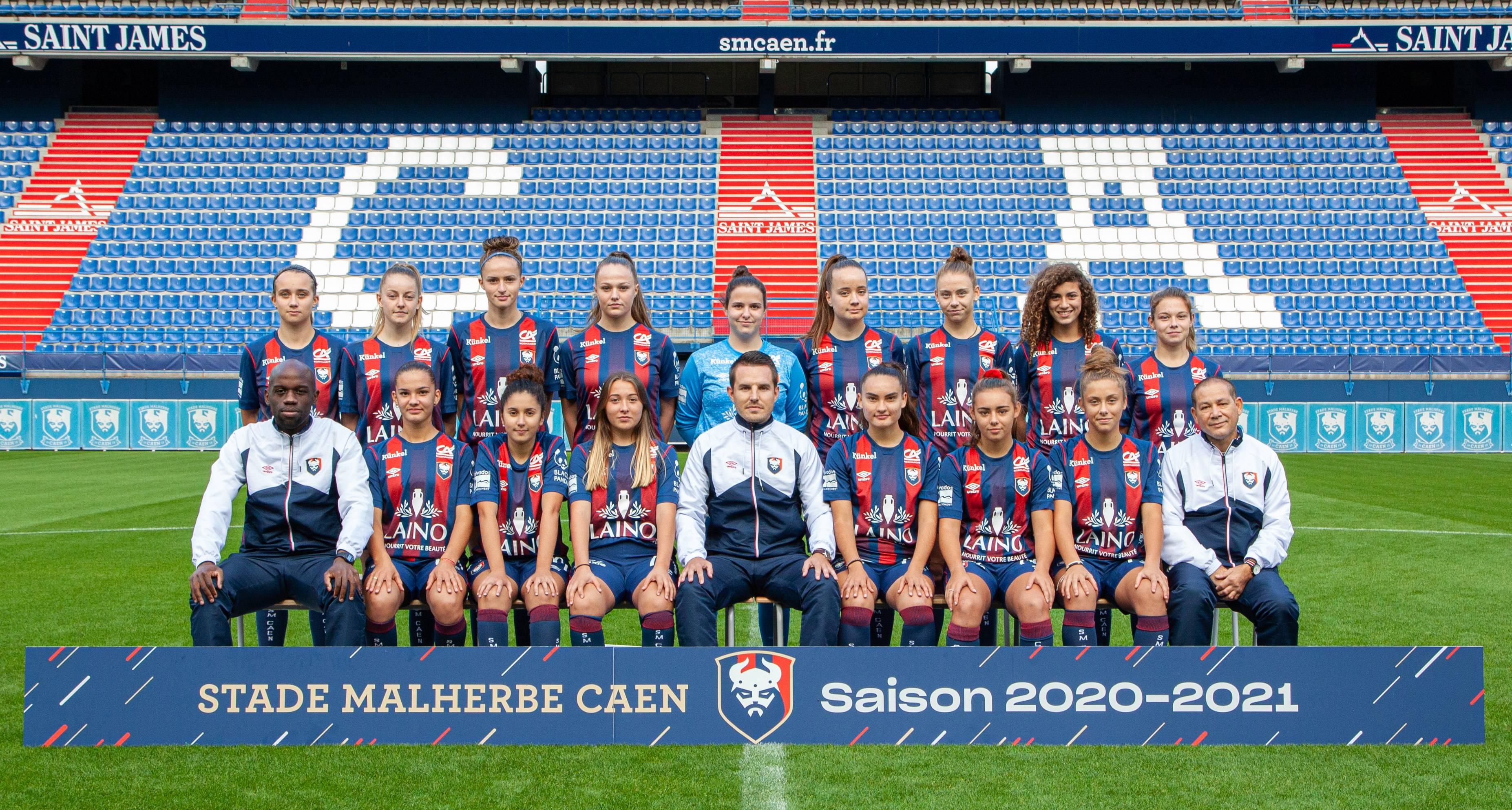 Stade Malherbe Caen Calvados Basse-Normandie - équipe U18 Féminines 2020-2021