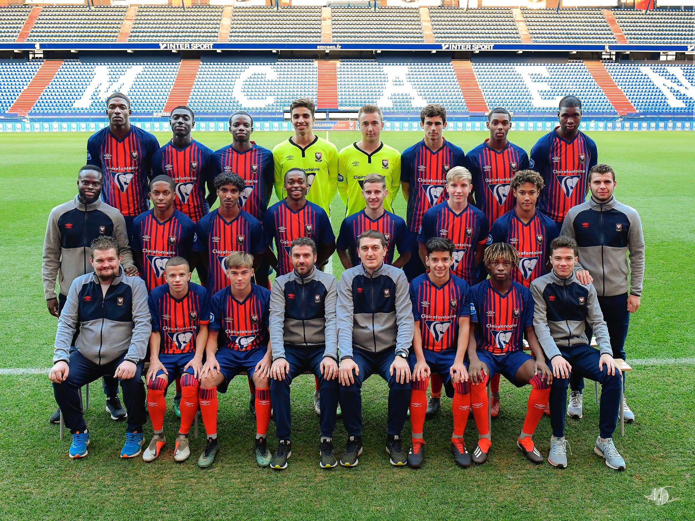Stade Malherbe Caen Calvados Basse-Normandie - équipe U19 2018-2019